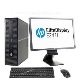 Hp Desctop Core i5-4590 8Go 500 Go Avec Ecran 24 Pouce Led