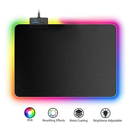 GameYes Tapis de Souris Gamer Lumineux, avec LED RGB 250x350 MM