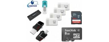 Clés USB et cartes mémoires